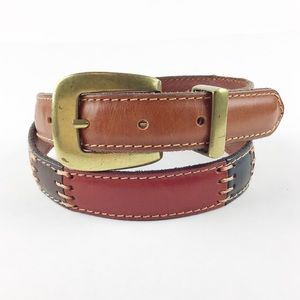 Fossil Patchwork Leather Belt l Women's Size Small